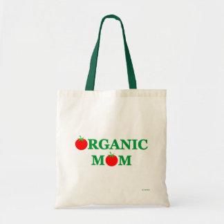 Funny Organic Foods Cartoon Grocery Tote Bag