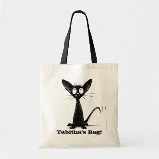 Funny Oriental Black Cat Bag