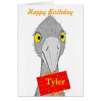 Funny Ostrich, add name, Birthday Card