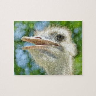 Funny Ostrich Portrait Puzzle