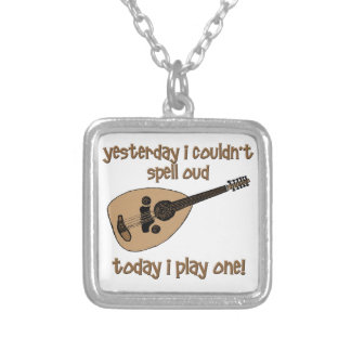 Funny Oud Silver Plated Necklace