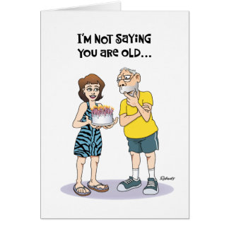 """Funny """"Over the Hill"""" 62nd Birthday Greeting Card"""