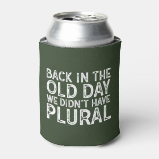 Funny Over the Hill Back in the Old Day Vintage Can Cooler