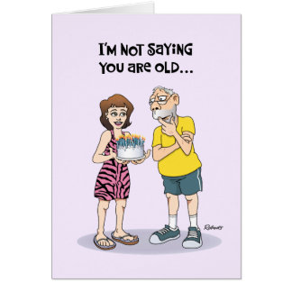 """Funny """"Over the Hill"""" Birthday Greeting Card"""