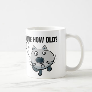 Funny over-the-hill birthday mugs