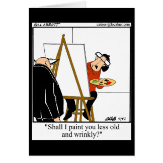Funny Over The Hill Humor Birthday Card