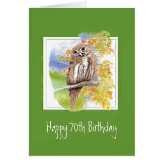 Funny Owl 70th Birthday Getting Older Card