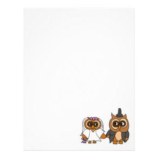 Funny Owl Bride and Groom Wedding Custom Letterhead