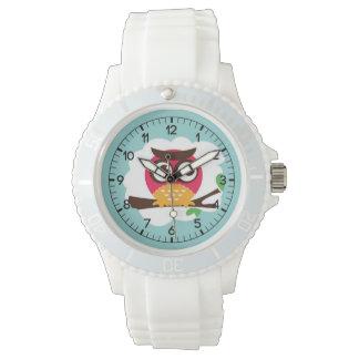 Funny Owl Cartoon Wrist Watches