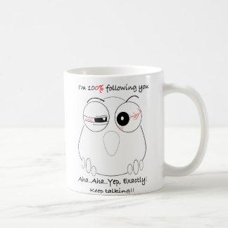 Funny owl coffee mug