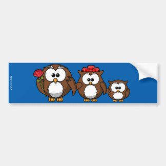 Funny Owl Family Bumper Sticker