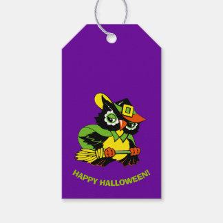 Funny Owl Halloween Custom Gift Tags