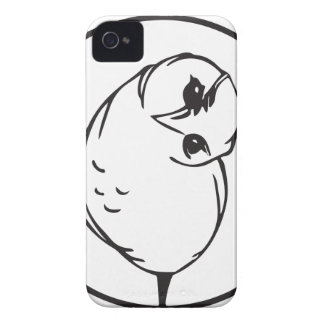 Funny owl iPhone 4 Case-Mate cases
