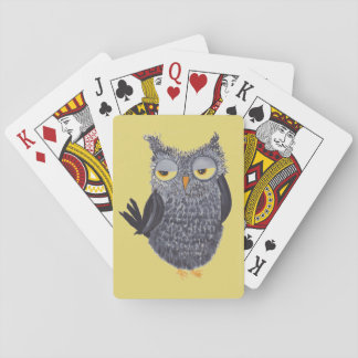 Funny Owl Playing Cards