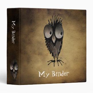 Funny Owl Vinyl Binders