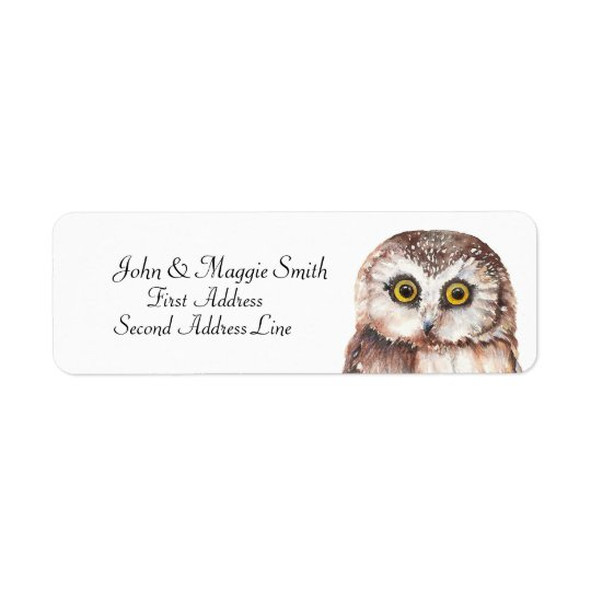 Funny Owl Watercolor Bird Collection