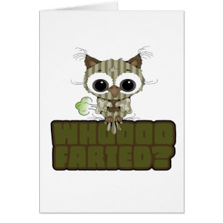 Funny Owl Whooo Hoot Farted Cards