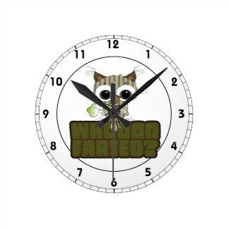 Funny Owl  Whooo Hoot Farted Wall Clocks