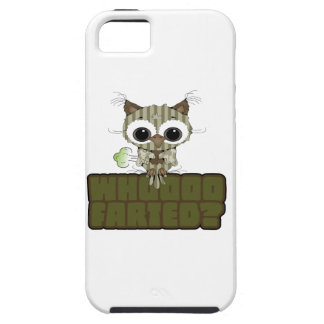 Funny Owl  Whooo Hoot Farted iPhone 5 Case