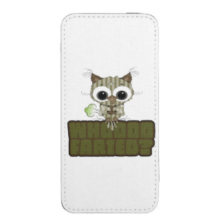 Funny Owl  Whooo Hoot Farted iPhone Pouch