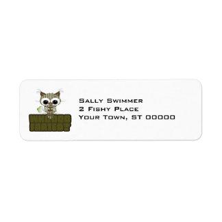 Funny Owl Whooo Hoot Farted Custom Return Address Labels