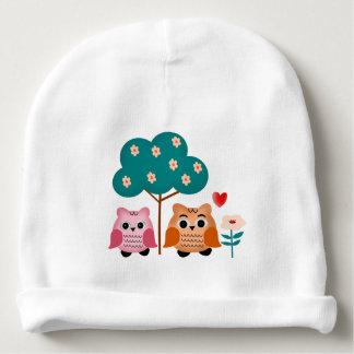 funny owls baby beanie