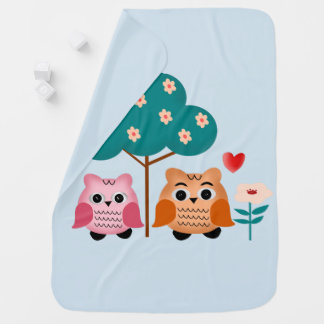 funny owls baby blanket