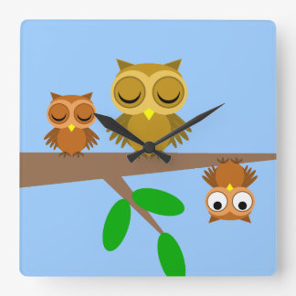 funny owls clock