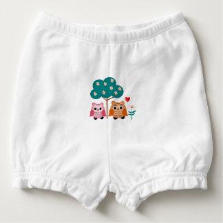 funny owls diaper cover