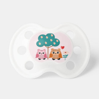 funny owls pacifier