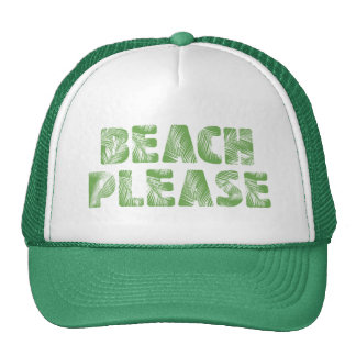Funny Palm Tree Typography - Beach, Please! Trucker Hat
