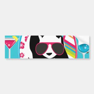 Funny Panda Bear Beach Bum Cool Sunglasses Surfing Bumper Sticker