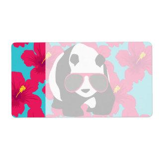 Funny Panda Bear Beach Bum Cool Sunglasses Tropics Shipping Label
