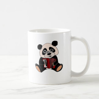 Funny Panda Bear Playing Accordion Coffee Mug