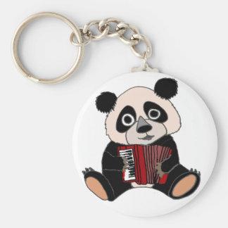 Funny Panda Bear Playing Accordion Keychain