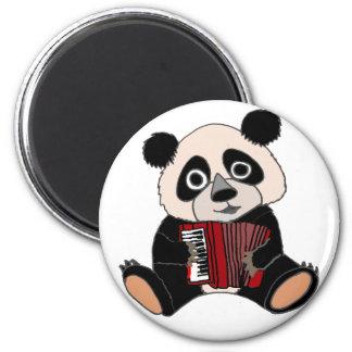 Funny Panda Bear Playing Accordion Magnet