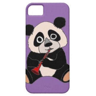 Funny Panda Bear Plying Red Clarinet Case For The iPhone 5