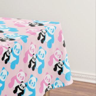Funny panda's family tablecloth