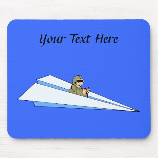 Funny Paper Airplane Pilot Mouse Pads