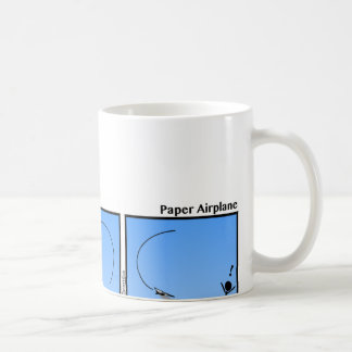 Funny Paper Airplane Stickman Mug - 082