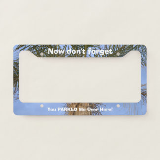 Funny Parked Car Palm Tree License Plate Frame