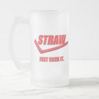 Funny Parody Beer Mug: Just Suck It Frosted Glass Beer Mug