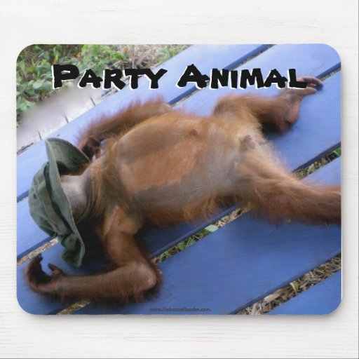 Funny Party Animal Mouse Pad