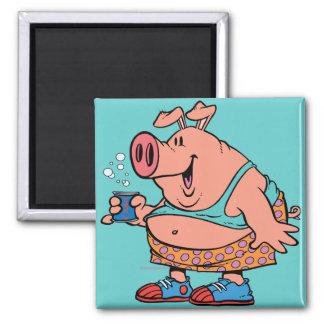 funny party animal pig hog cartoon refrigerator magnets