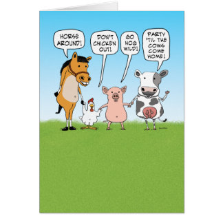 Funny Party Animals Advice for Anniversary Card