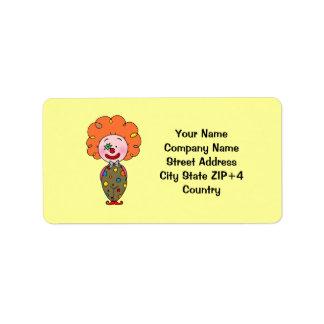 Funny party clown return address
