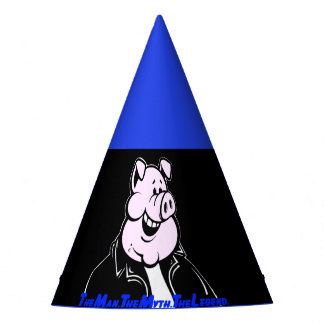 Funny Party Hat Man Myth Legend Pig Fun