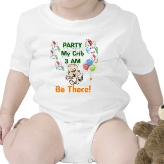 Funny New Year's Eve Party Baby Bodysuit