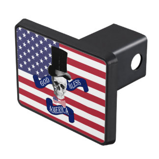 Funny patriotic American Hitch Cover