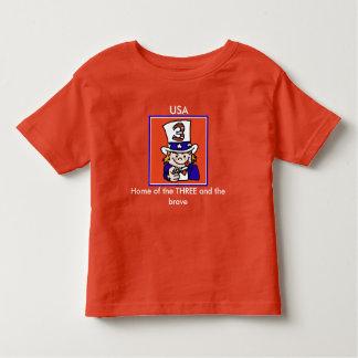 Funny patriotic three year old shirt